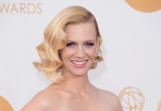 Wedding hair and makeup inspiration January Jones