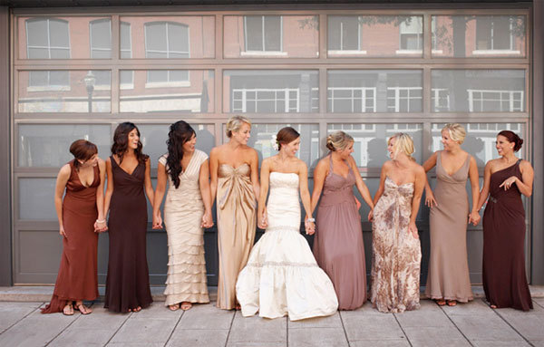 Mix-n-match-bridesmaids-dresses-brown-ivory-champagne.full