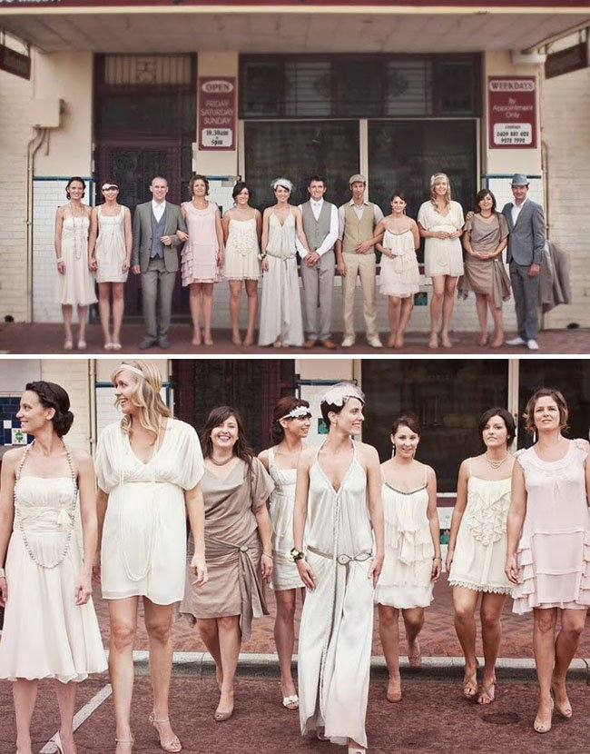 Mix-and-match-bridesmaids-dresses-vintage-inspired-wedding-ideas.full