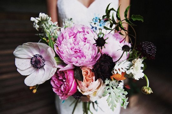 Wedding flower inspiration from Amy Osaba - Vintage Romance