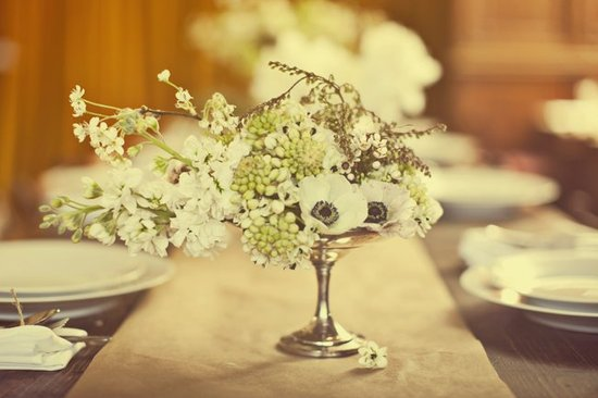 Wedding flower inspiration from Amy Osaba - Vintage Reception Style