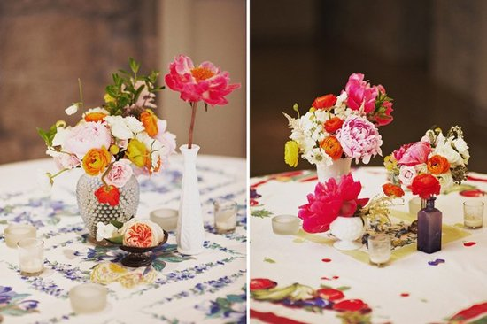 Wedding flower inspiration from Amy Osaba - Bright Whimsical Arrangements