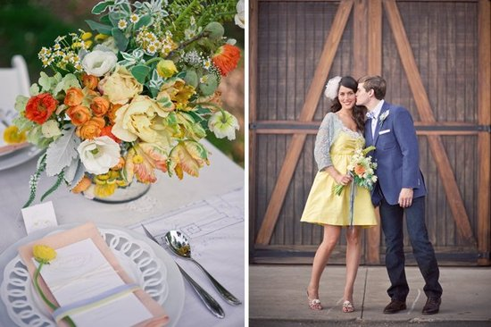 Wedding flower inspiration from Amy Osaba - Vintage Fall Ceremony and Reception Decor