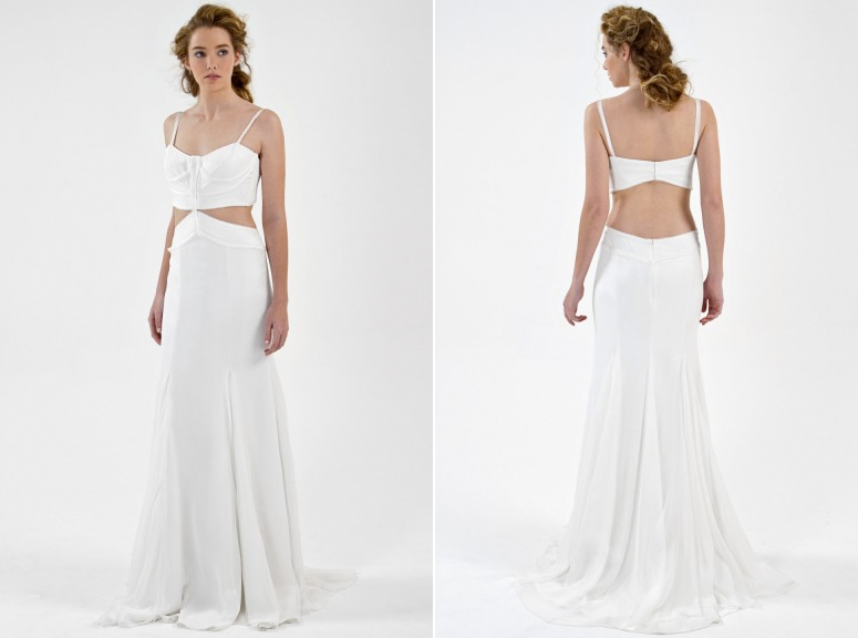 Open Back Beach Bridal dress