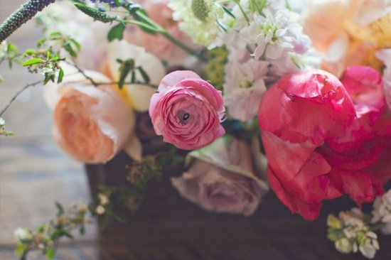 Wedding flower inspiration from Amy Osaba - Peonies and Ranunculus