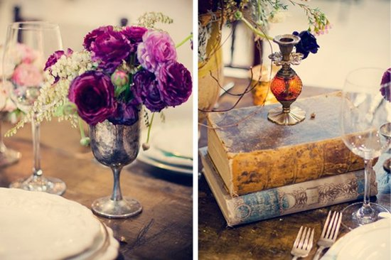 Wedding flower inspiration from Amy Osaba - Purple and Orange for Fall