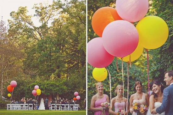 Wedding flower inspiration from Amy Osaba - Pink and Orange