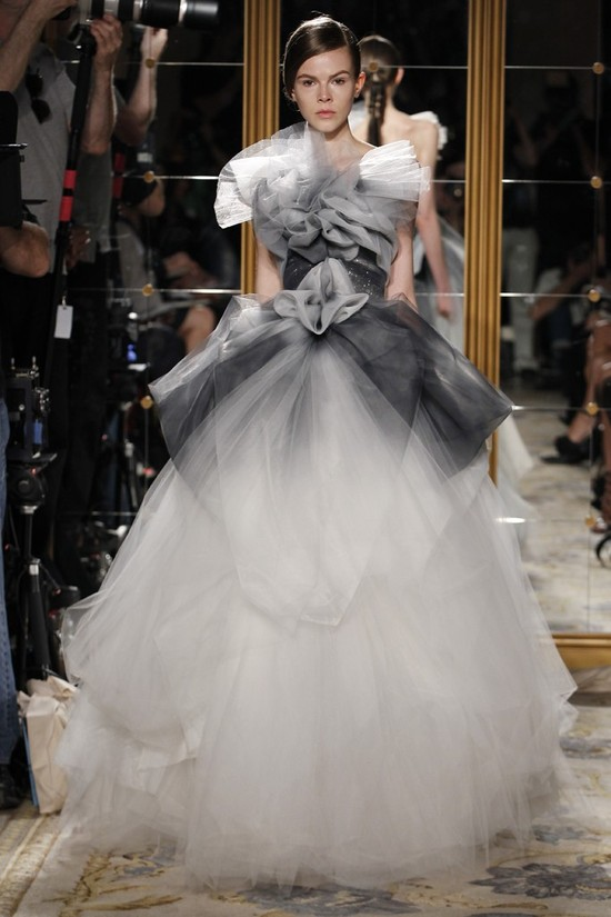 Classic Marchesa dramatic tulle ballgown wedding dress