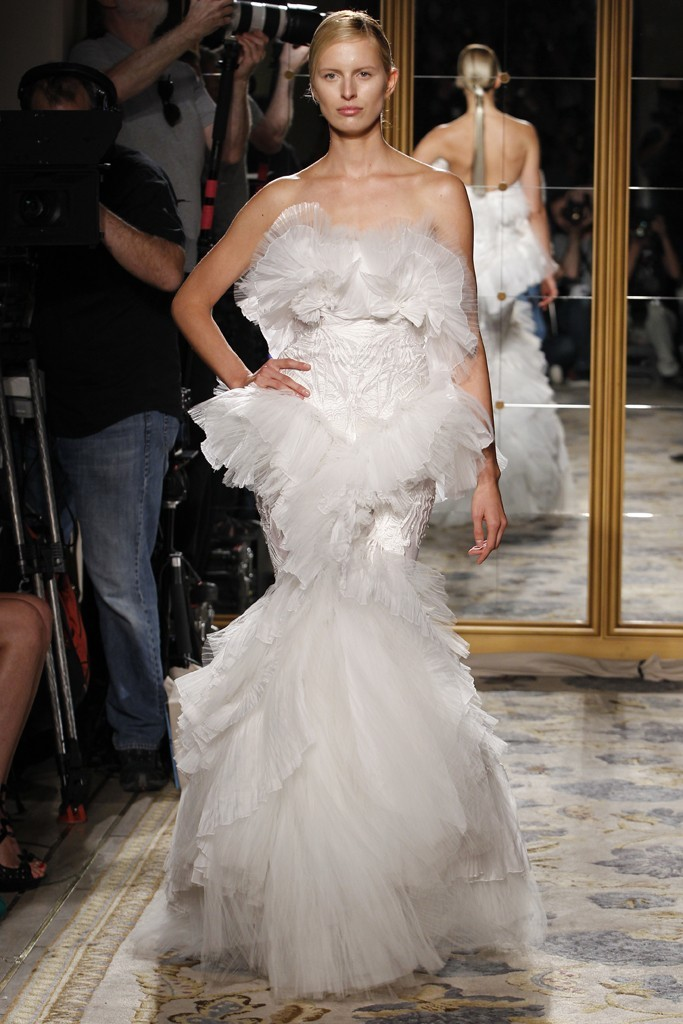Whimsical mermaid wedding dress by Marchesa