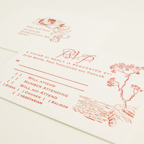 Letter Press Wedding Invitations