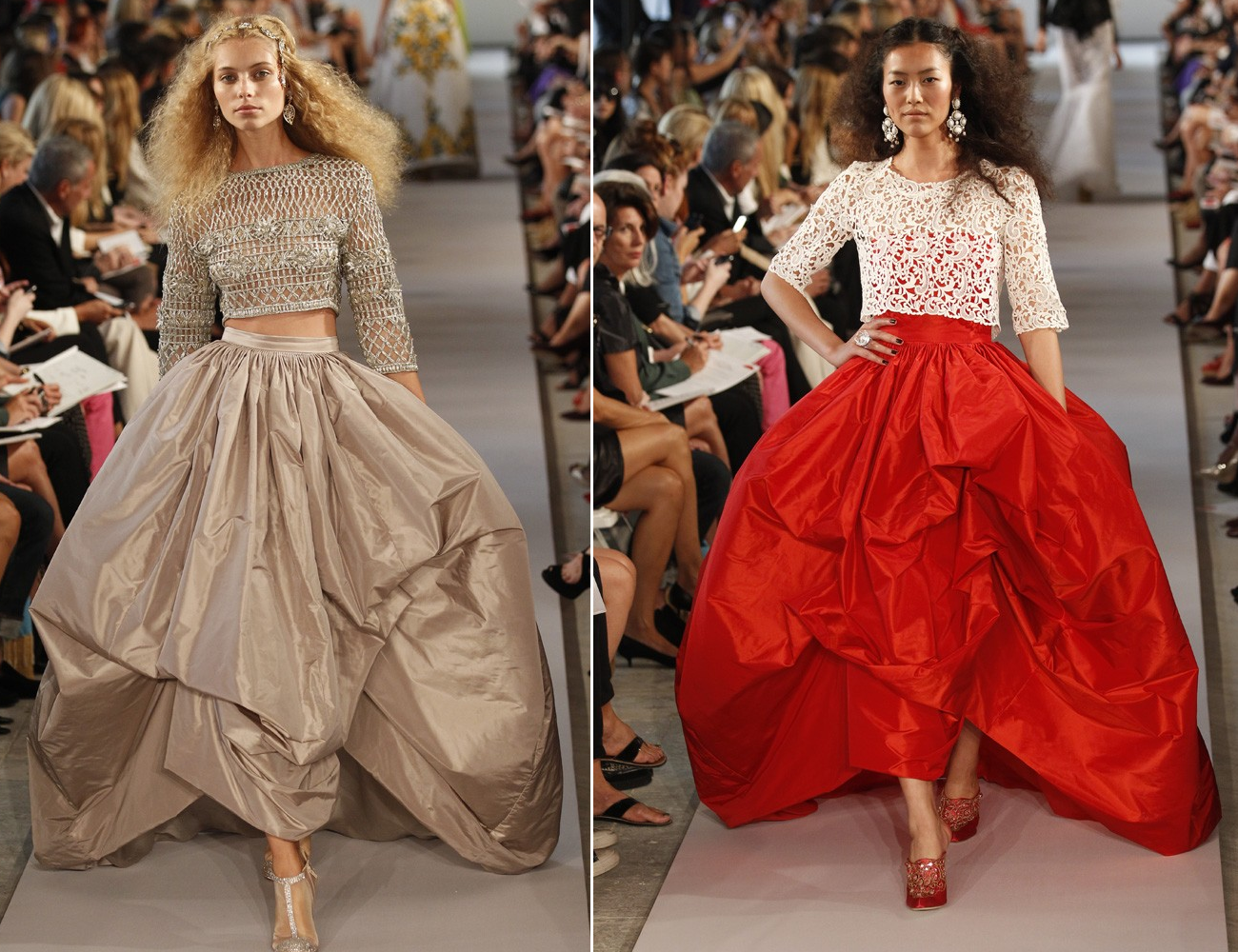 Dramatic ballgown wedding dress skirts from oscar de la for Where to buy oscar de la renta wedding dress