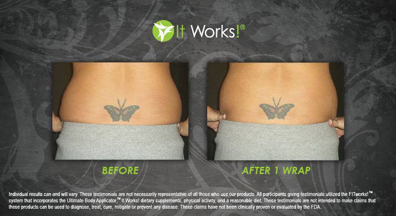 Back Fat 2 - After 1 Wrap