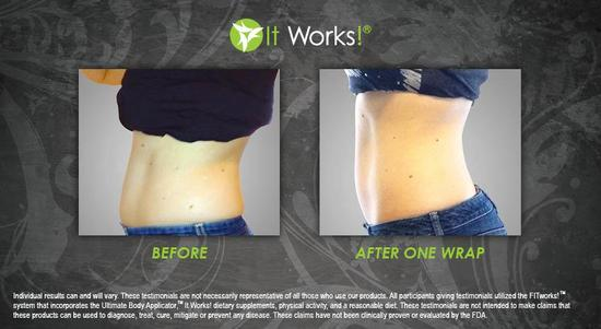 Tummy 2 - After 1 Wrap