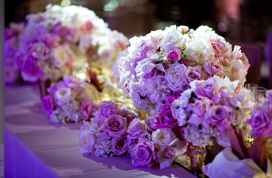 California wedding- pink and ivory wedding flowers