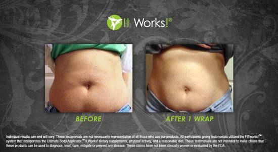 Tummy 33 - After 1 Wrap