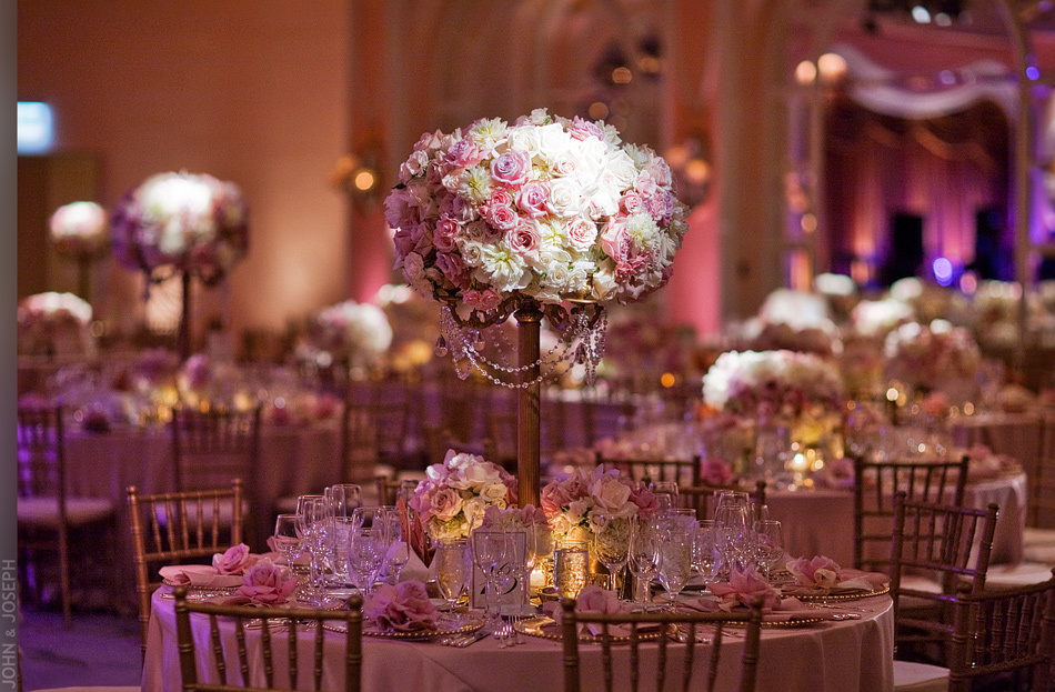 California wedding- stunning wedding flower centerpiece