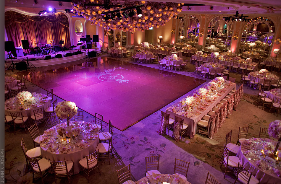 California wedding- opulent wedding reception venue