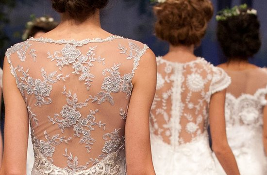 Claire Pettibone wedding dresses, Fall 2012- statement backs