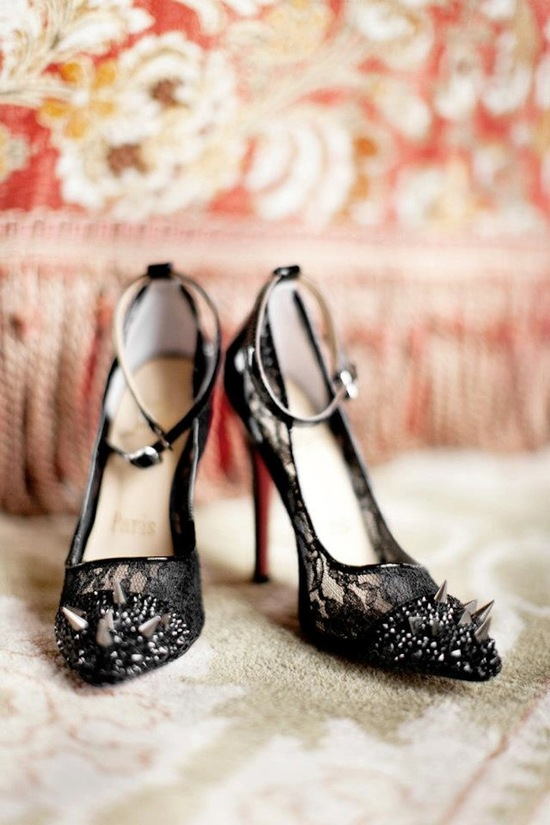 Classic Black Bridal Shoes