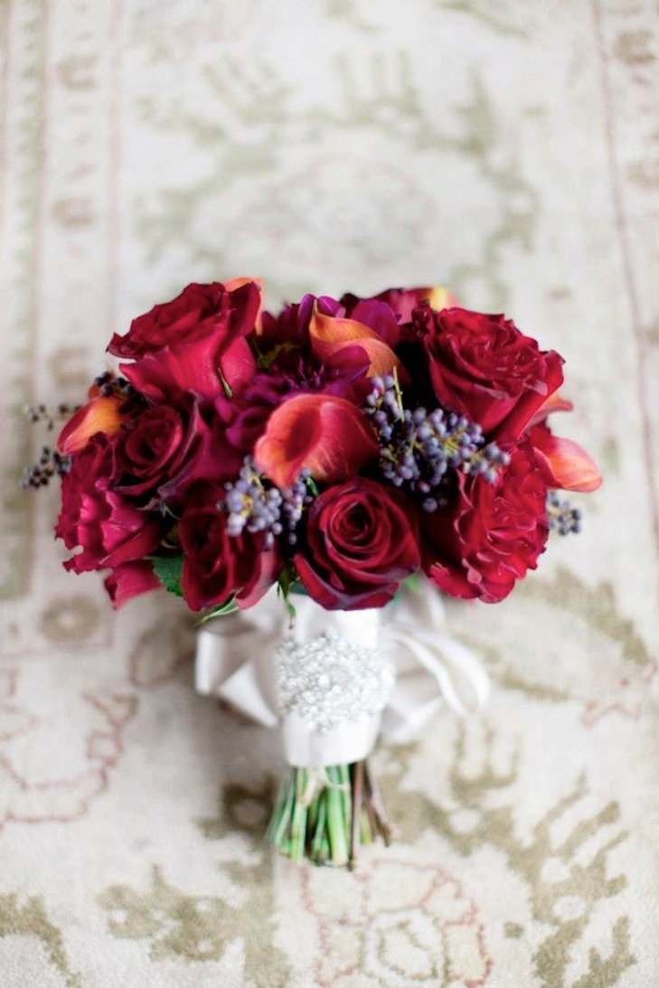 Romantic-deep-red-wedding-bouquet-with-crystal-embellished-ribbon.full