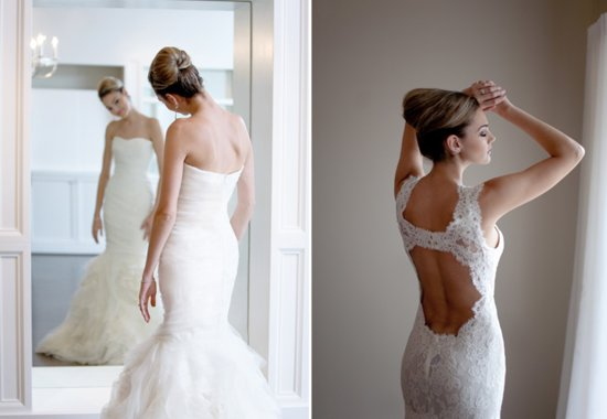 photo of Sophisticated wedding updo for modern brides