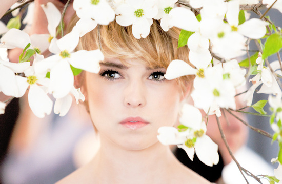 Bridal Beauty Portraits Bride Surrounded By Blooms