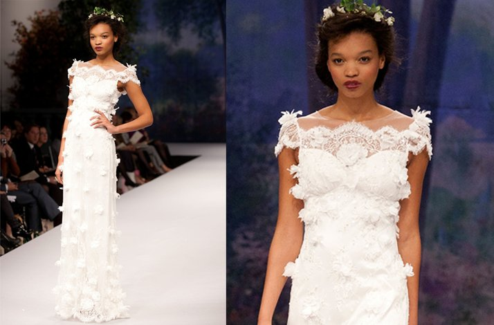 Claire Pettibone wedding dress, Fall 2012- 3D embellishments