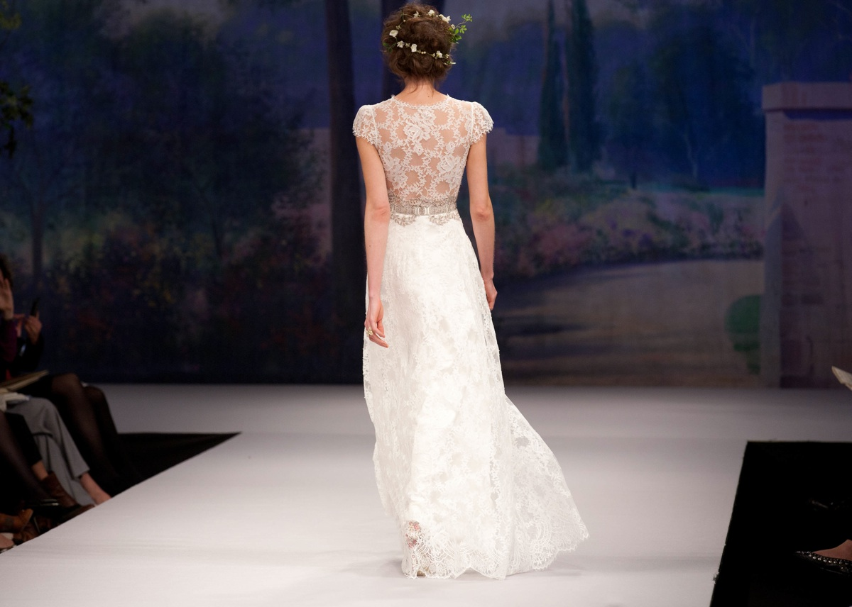 Claire Pettibone wedding dress Fall 2012 sheer lace back