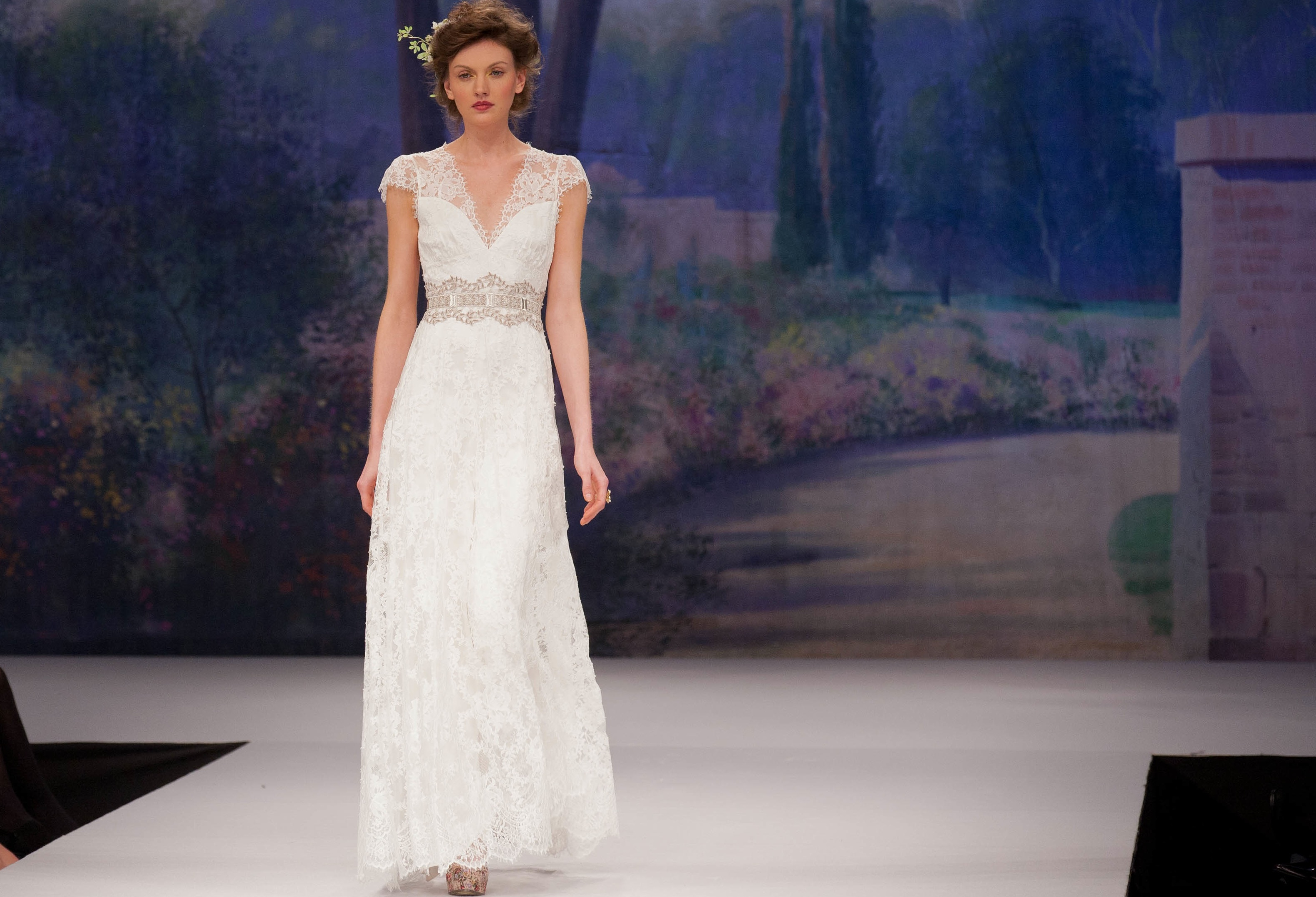 Claire pettibone wedding dress fall 2012 romantic lace for Wedding dress claire pettibone