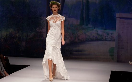 Claire Pettibone wedding dress, Fall 2012- illusion neckline