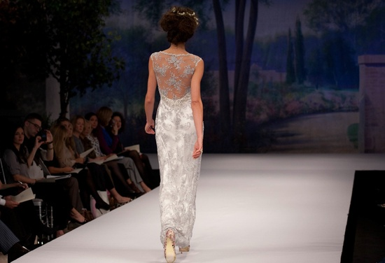 Claire Pettibone wedding dress, Fall 2012- illusion back