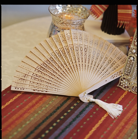Sandalwood Rustic Wedding Fan