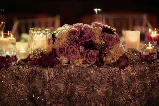 Purple Decorated Table