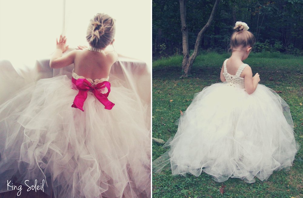 Tulle Flower Girl Dresses for Weddings