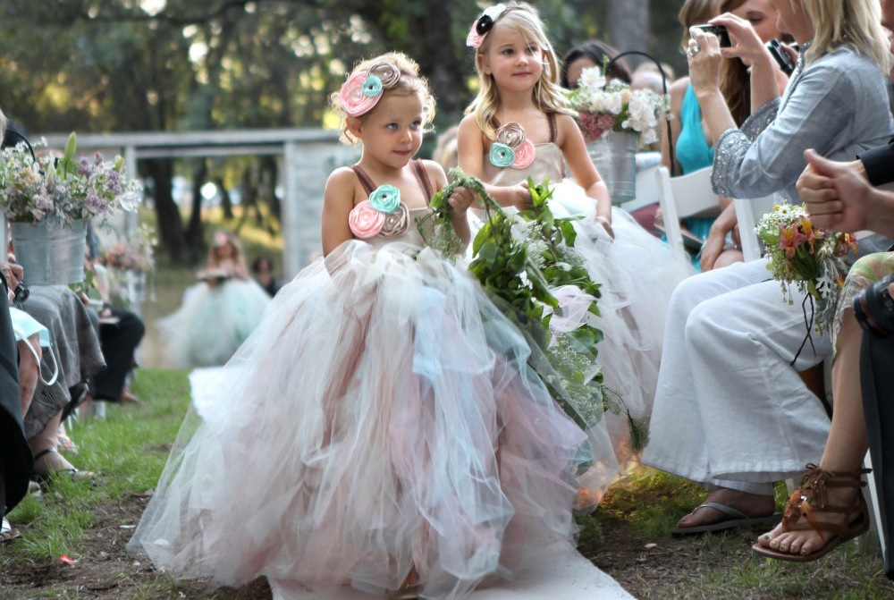 73d0fcd365e44 Pastel Rainbow Tulle Flower Girl Dress