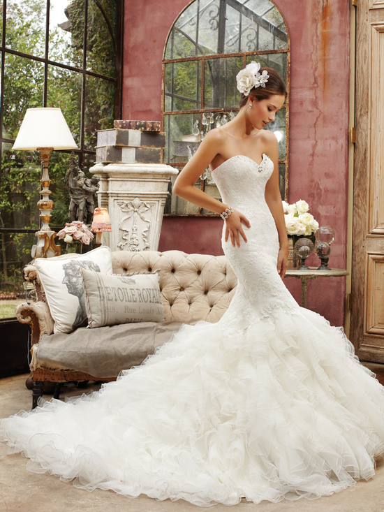 Elegant Mermaid Wedding Gown
