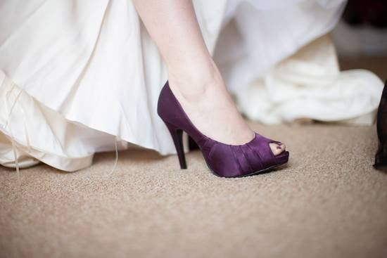 Simple Purple Bridal Shoes