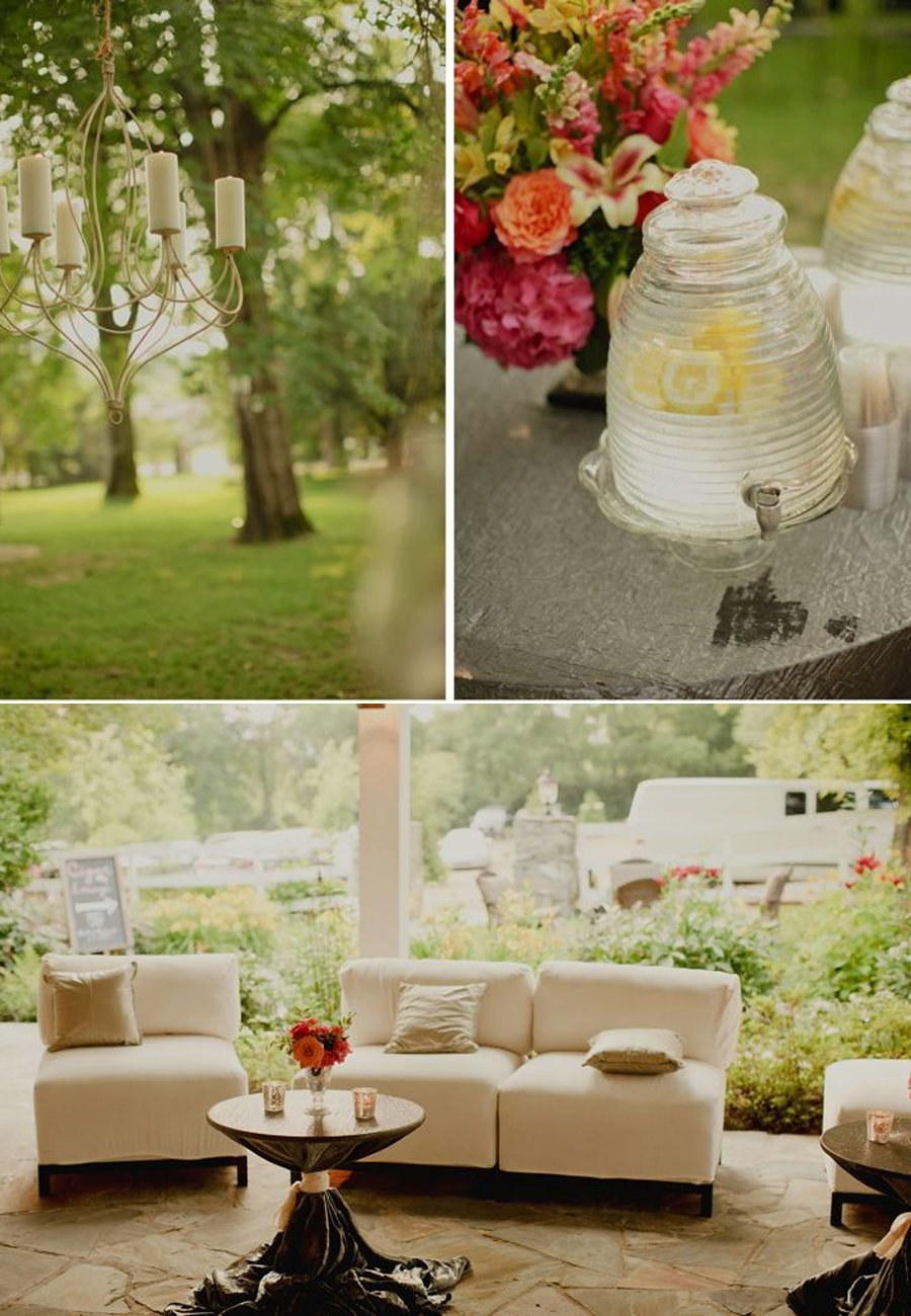 Elegant outdoor wedding reception setup in Nashville