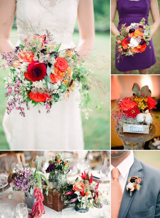 Purple And Orange Whimsical Fall Wedding Inspiration