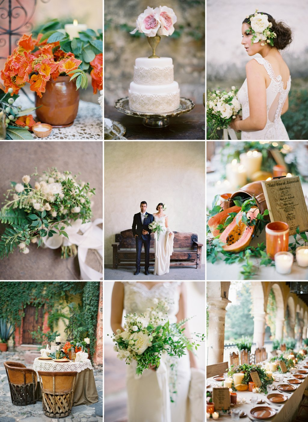 ivory green fall wedding colors
