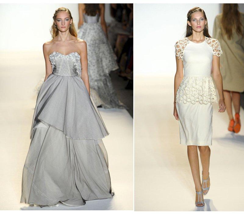 lela rose non white wedding dress and feminine wedding reception dress