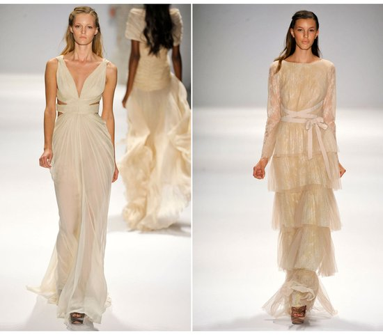 Vintage Wedding Dresses Nyc: Beige Wedding Dresses, Spring 2012
