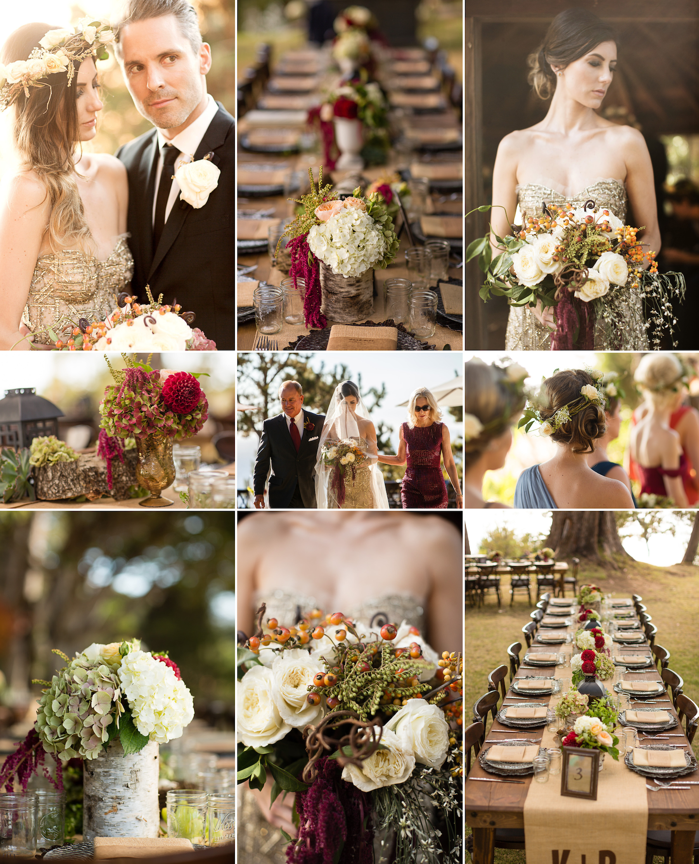 Wedding Colors: Wine Green Orange Wedding Colors For Fall