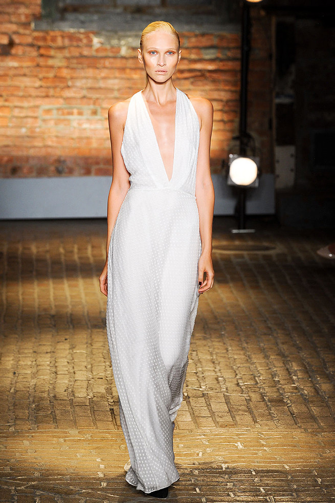 photo of White Wedding Inspiration from New York Fashion Week