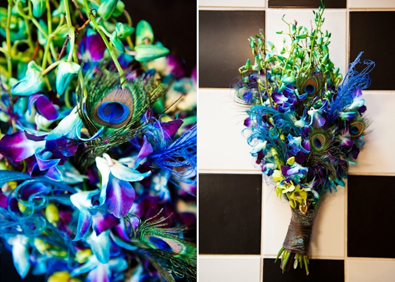 Bright-peacock-inspired-grooms-boutonniere.full