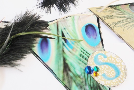 peacock inspired wedding bunting