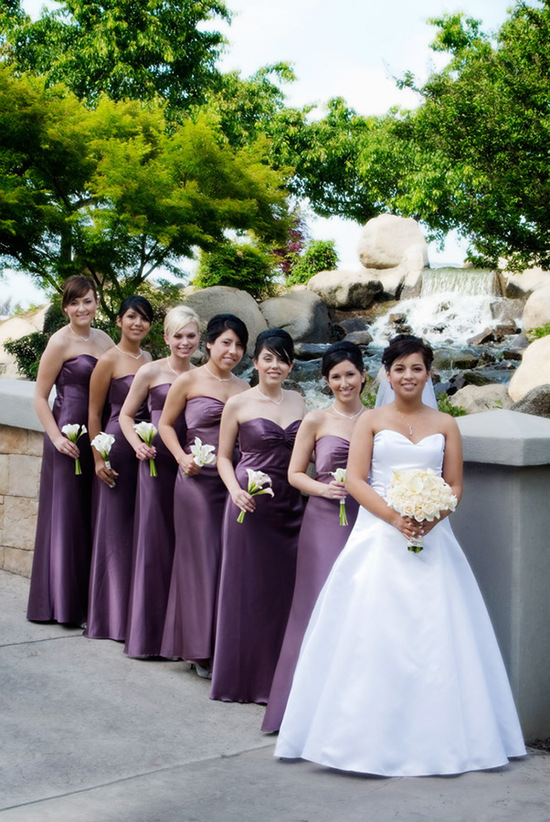 Simple and Elegant Strapless Bridesmaids Dresses