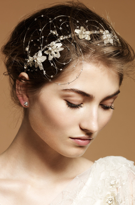 Whimsical bridal headband