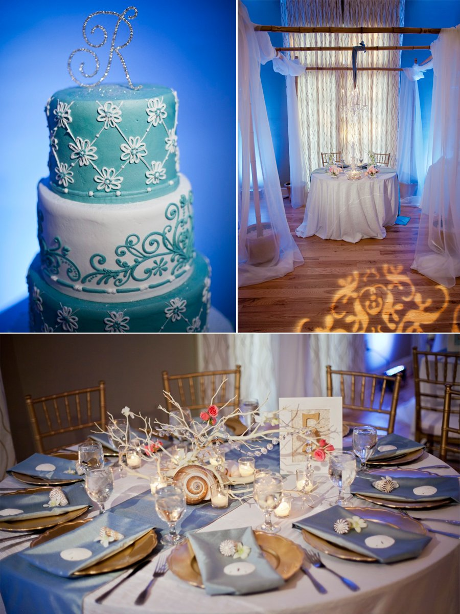 Love this! Elegant beach themed wedding in FLorida #Teal