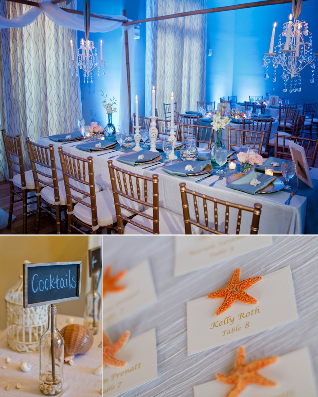 Beach Wedding Reception Ideas: Elegant Beach Inspired Wedding Reception Decor